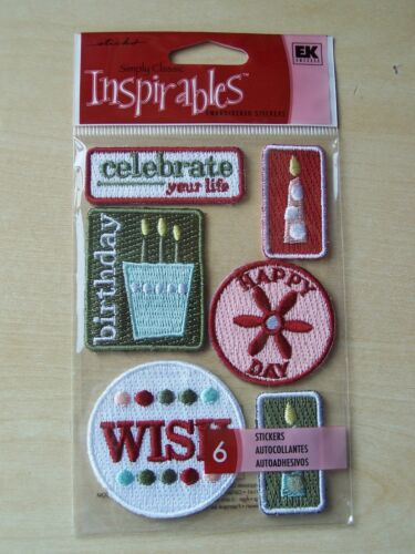 EMBROIDERED STICKERS NEW STICKO INSPIRABLES CELEBRATION