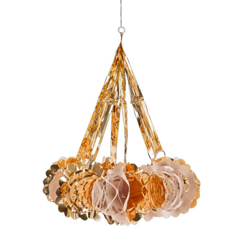 Or Rose De Noël Feuille plafond Décorations 40 cm lustre