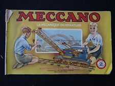 catálogo MECCANO 1949 declaración instrucciones montaje modelismo juguete