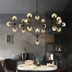 Details About Large Chandelier Lighting Kitchen Pendant Light Black Lamp Office Ceiling Lights