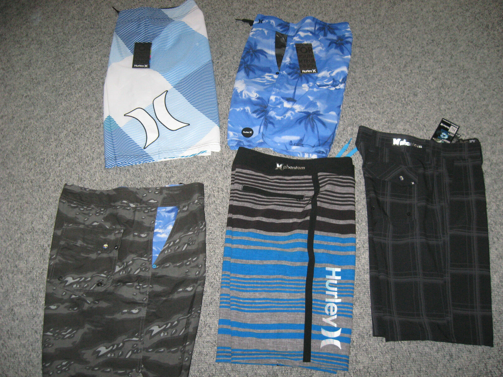 HURLEY Men's Board Short,Gym Short Or Casual Short, Many styles & colors, NWT