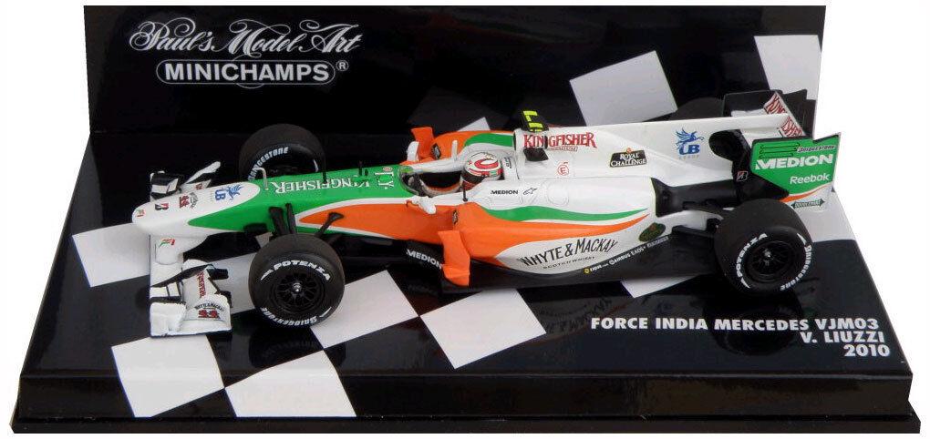 Minichamps Force India VJM03 2010-Vitantonio Liuzzi escala 1 43