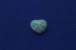 0.17ct Heart Cut Loose Natural Ethiopian Cabochon Opal 4.9 x 1.33mm