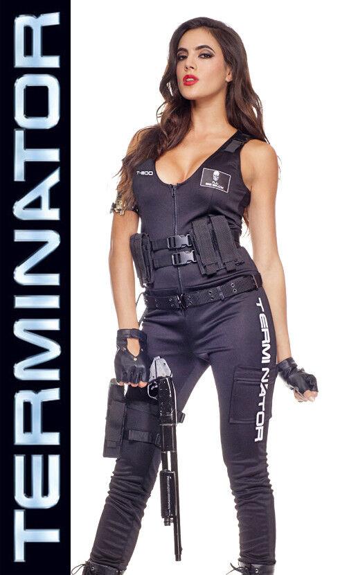 Licensed TERMINATOR T-800 I'll Be Back Babe Costume, Music Legs 70474 XS S/M M/L