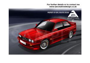 BMW-M3-E30-A3-Poster-Illustration