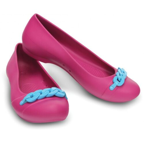 CROCS Women/'s Berry /& Electric Blue Gianna Link Flats Summer Shoes SZ W11 NWT!