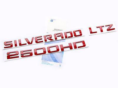 1x OEM Red LTZ Nameplate Alloy Letter Emblem Badge 2011-2015 Chevrolet Shiny WU