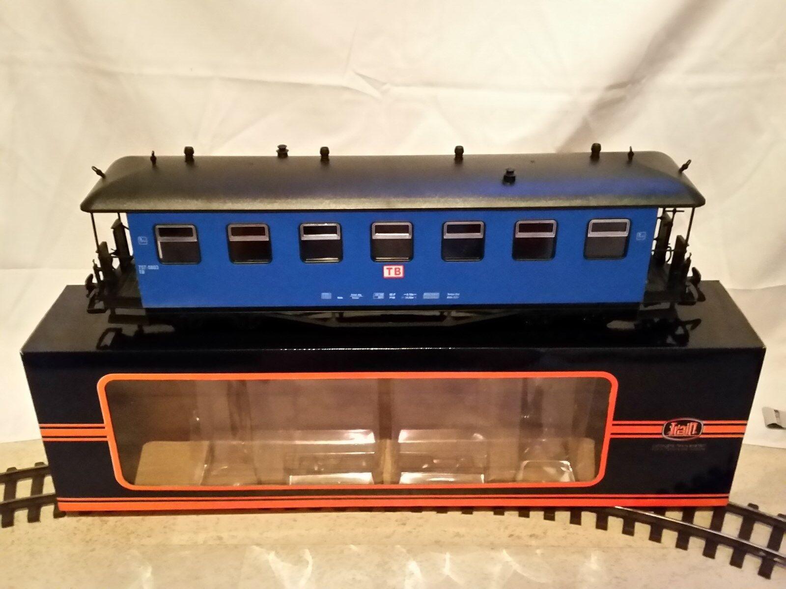 Traccia G - 4-assiali vetture vetture vetture passeggeri-Train, Blu, Nuovo, Modificato. con varianti d69819