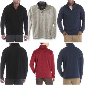 Men-039-s-Wrangler-Quarter-Zip-Knit-Fleece-Sweater-Jumper-Sweatshirt-with-Logo