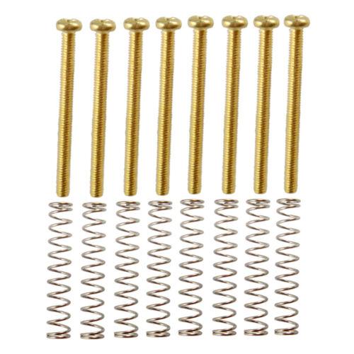 8 Stück Metall Humbucker Pickup Rahmen Fix Justierschrauben Gold für E