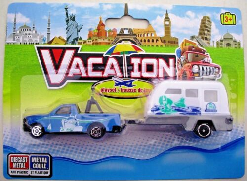 Camper//Trailer Vacation Camping NEW Playsets Truck//Camper Van//Boat 1:64 Scale