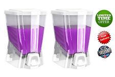 2x Soap Shampoo Bathroom Shower Single Dispenser Pump Action Wall Mounted 500ml
