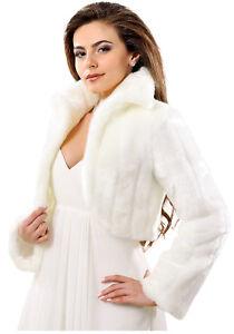 Bolero Fell Weiß Neu Brautjacke Creme Ivory hochzeitskleid Details Zu Z Brautbolero Jacke 6gyY7bf