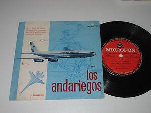 """7""""/LOS ANDARIEGOS/AYER HOY Y MANANA/MicrofonA1/AEROLINEAS ARGENTINAS WERBEPLATTE"""