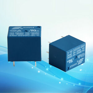5-10Pcs-Mini-10A-5V-DC-SONGLE-Power-Relay-SRD-5VDC-SL-C-PCB-Type