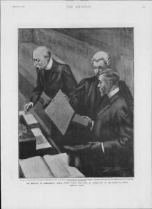 1901-Antique-Print-LONDON-Parliament-Dukes-Oath-Allegiance-Sovereign-171