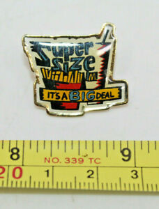 McDonalds Super Size Its a Big Deal Fries Drink Collectible Pinback Pin Button