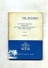 """""""DE ECCLESIA""""#COST. DOGMATICA PROMULG. DAL CONCILIO ECUMENICO VAT.#Paoline 1964"""