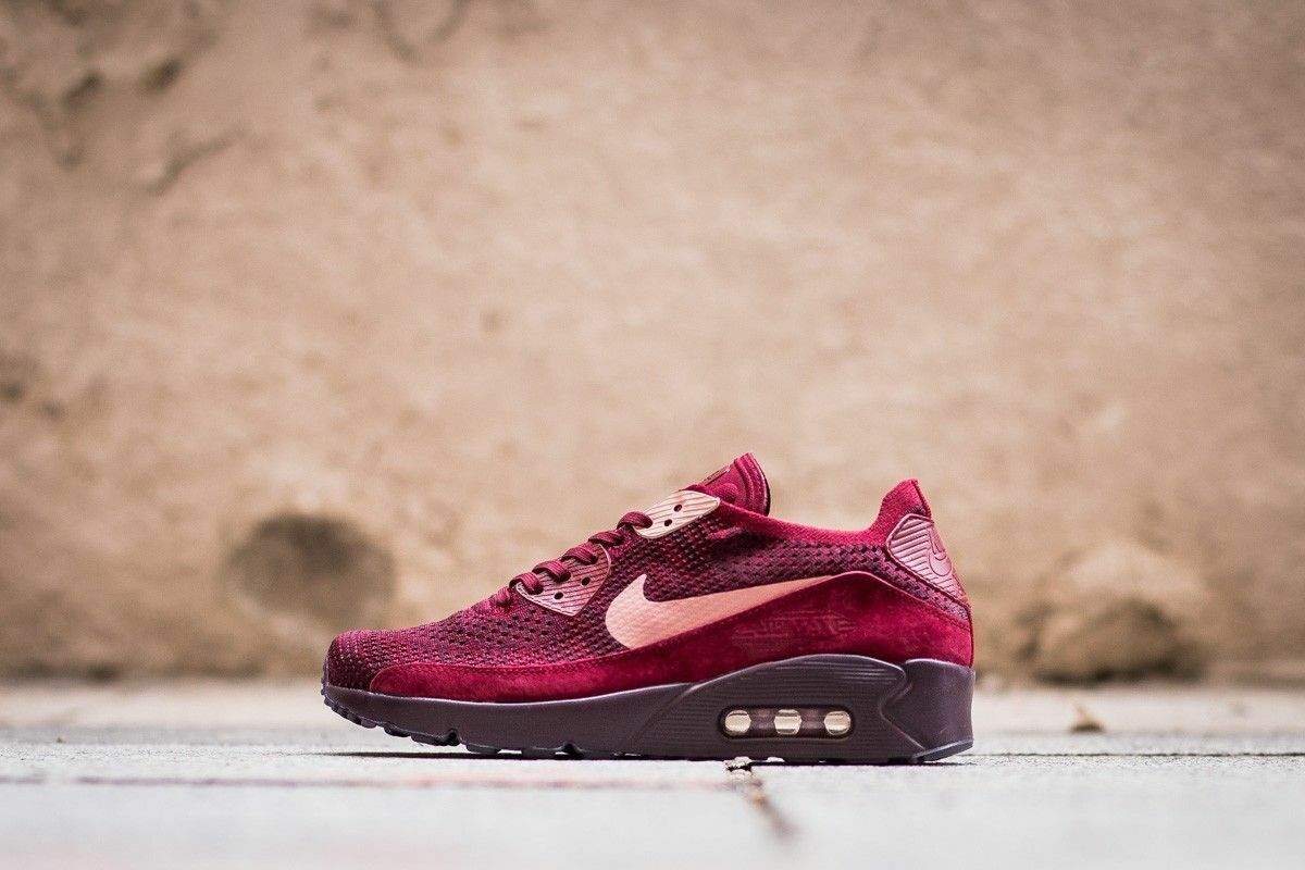 Nike Air Max 90 Ultra Flyknit Team Red/Rust 875943 Pink 875943 Red/Rust 601 Limited Mens Sz 9.5 38e1c4