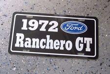 1972 Ford Ranchero Gt License Plate Car Tag 72 351 Cleveland 429 Super Cobra Jet