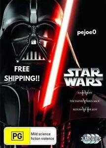 Star-Wars-4-5-6-Trilogy-DVD-Reg-4-FREE-POST-New-Sealed