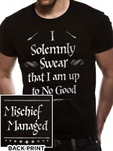 c550b13fd Image is loading Harry-Potter-Solemnly-Swear-Mischief-Managed -Official-Hogwarts-