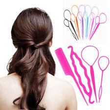 2pcs//set Plastic Crochet Braids Pull Hair Needle Ponytail Hairstyle Tool N6J1