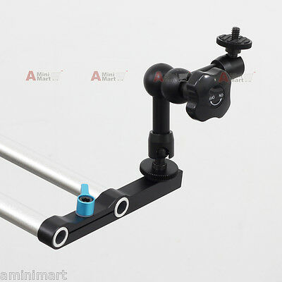 """7"""" Friction Articulating Arm Straight 15mm Rod Clamp fr DSLR Rig LCD Monitor EVF"""