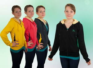 Grau Schwarz Rot Gelb M L Xl Xxl Klar Und GroßArtig In Der Art Damen Kurze Warme Jacke Sport Fell Kapuze