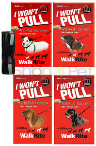DOG-WALKING-HARNESS-MIKKI-WALKRITE-ANTI-PULL-REFLECTIVE-COLLAR-FOR-PET-4-SIZES