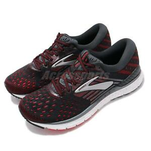 Brooks-Transcend-6-Black-Ebony-Red-White-Men-Running-Shoes-Sneakers-110299-1D