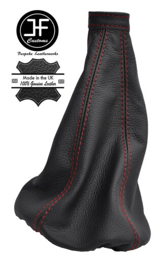 RED STITCHING  FITS ALFA ROMEO GT 2003-2010 GEAR STICK GAITER REAL LEATHER