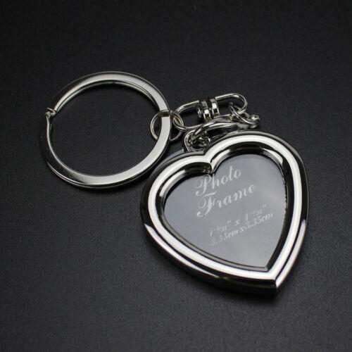 DIY Pendant Insert Photo Picture Holder Frame Key Chain Ring Keychain Keyring
