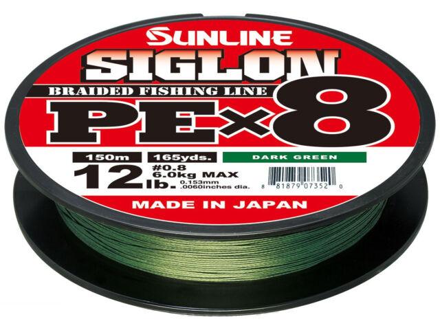 Sunline Siglon PE X 8 Orange Made Japan 8lb 10lb 12lb 16lb 20lb 25lb 30lb 150m
