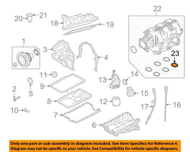 2005 to 2009 mustang v6 intake gasket set of 6 ford 5h2z 9439 ba for 2006 Mustang Engine Diagram ford oem 05 10 mustang engine intake manifold gasket 5h2z9439ba sold individual