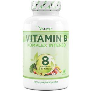 Vitamin-B-Komplex-180-Kapseln-Alle-8-B-Vitamine-3-Co-Faktoren-Hochdosiert