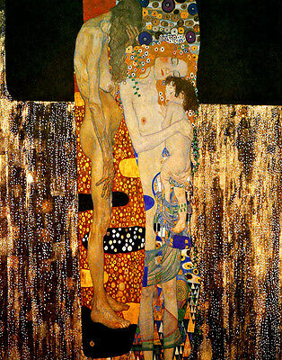 by Gustav Klimt 19x13 Poster detail ART PRINT The Three Ages of Woman