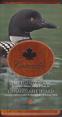 Sale 2004 Canada Elusive Loon Coin and Stamp Set