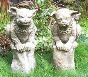 Watson-Warde-Gargoyle-Torwaechter-Skulptur-Steinguss-Vidroflor-Fiona-Scott