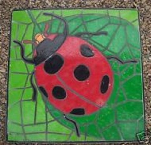"Ladybug plaster concrete stepping stone mold 1/"" thick abs plastic mould"