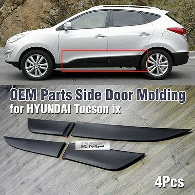 Silver /& Black Side Door Protect Molding 4Pcs For HYUNDAI 2010-2015 Tucson ix35