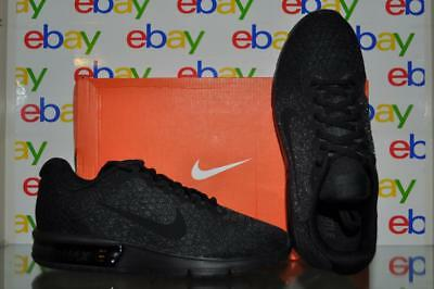 Nike Mens Air Max Sequent 2 Black Running Shoe 852461 015 NIB Size 7 91208933665   eBay