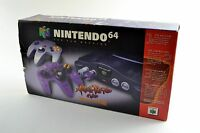 Nintendo 64 Charcoal Grey Console Atomic Purple Controller Brand New in Box!