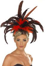 Burlesque Kopfschmuck mit Federn NEU - Karneval Fasching Hut Mütze Kopfbedeckung