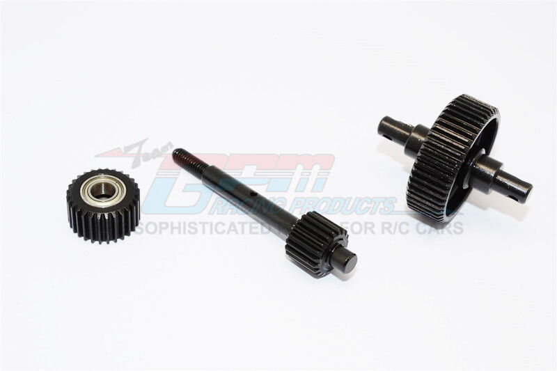 GPM Steel Axial Scx10 Center Center Center Drive Gears With Bearings  SSCX038G-BK OZRC cc4718