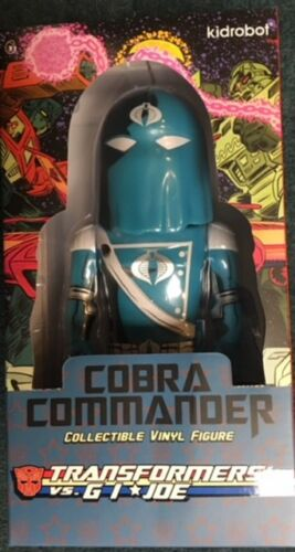 "GI JOE Blue COBRA COMMANDER Kidrobot 7/"" Vinyl Art Figure MIB TRANSFORMERS vs"