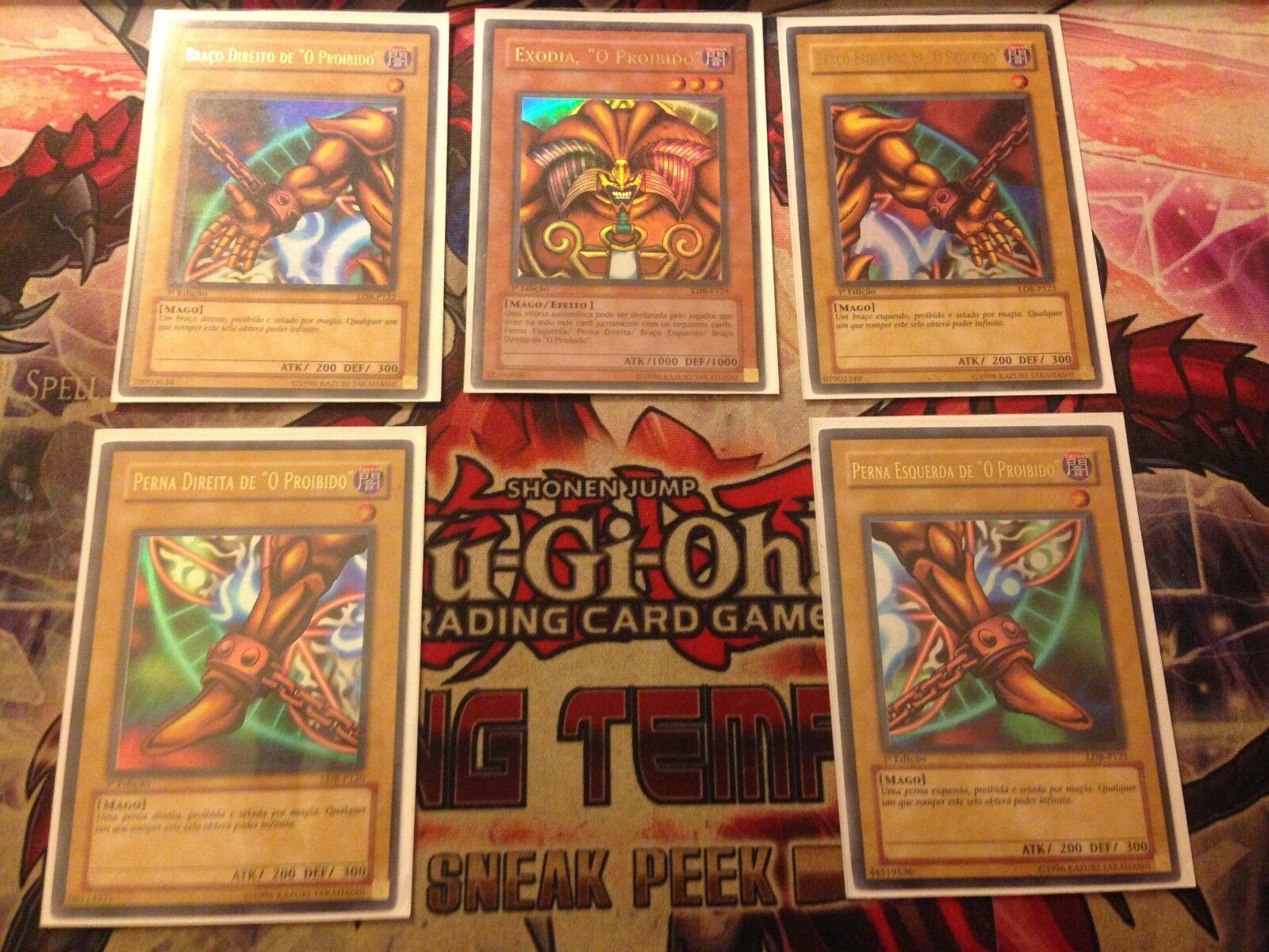 EXODIA COMPLETE SET  (PORTUGUESE) FIRST FIRST FIRST EDITION FORBIDDEN ONE (LP) YUGIOH  08767d
