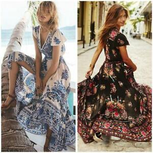 Women-Bohemian-Beach-Boho-Floral-Cocktail-Party-V-Neck-Maxi-Long-Dress-Sundress