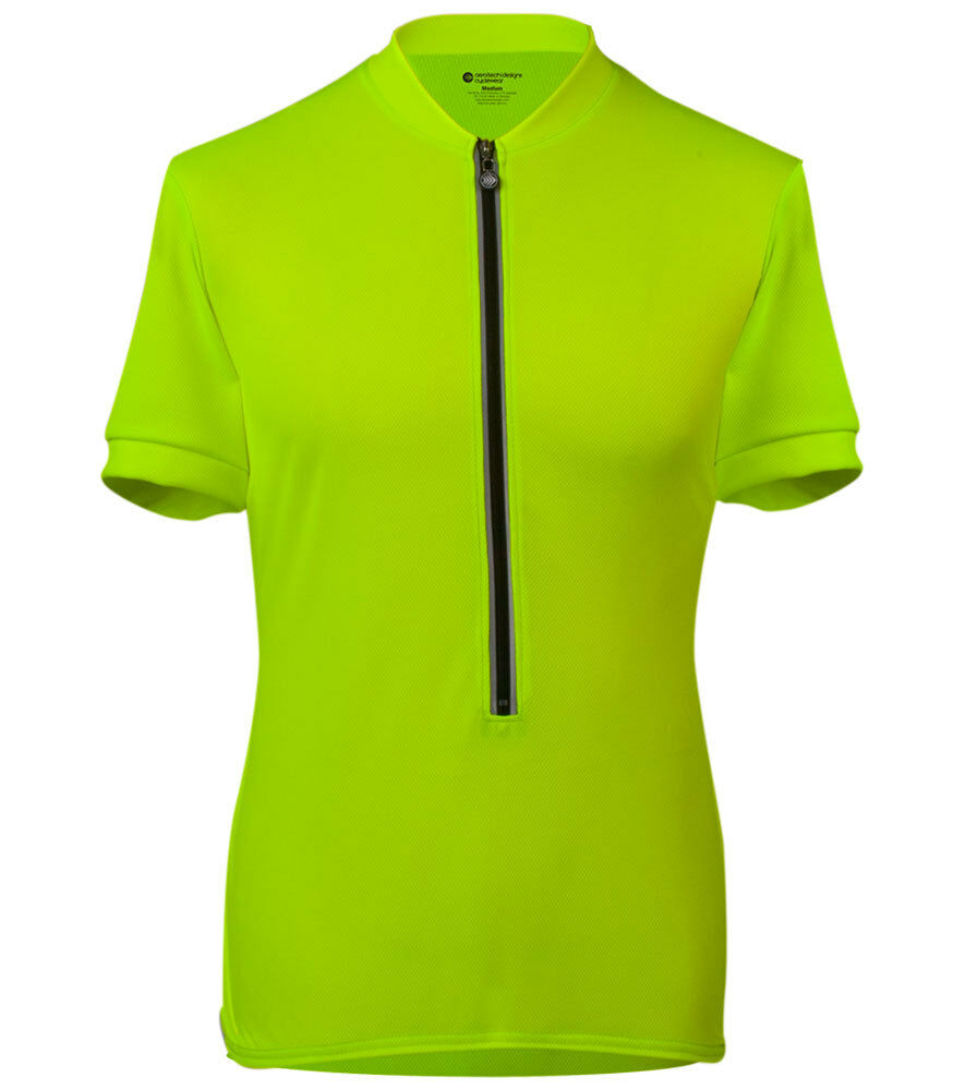 ATD Cycling Bike Jersey High Visibility Safety giallo Top Biking  Made in USA
