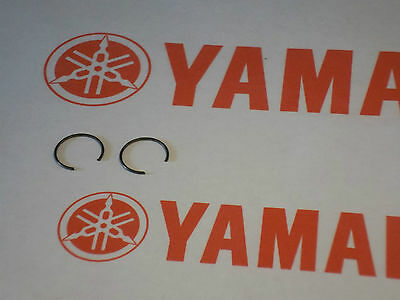 YAMAHA PISTON CLIPS (2) NEW DT125/175 RD250 RZ250 RD350LC RD400 500LC Rd350 CW16
